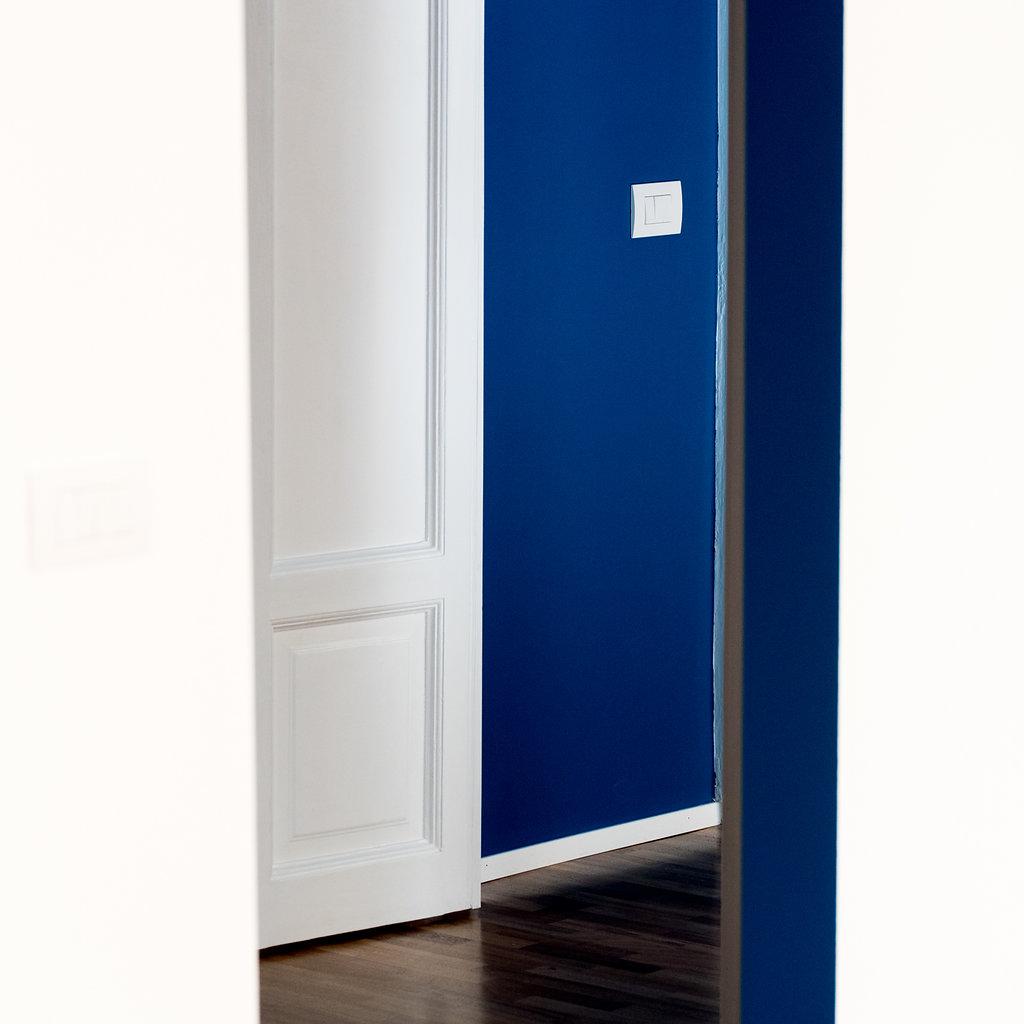 """CoCoter snc: fotografia """"Ristrutturazione appartamento dell'800, stanza blu"""""""